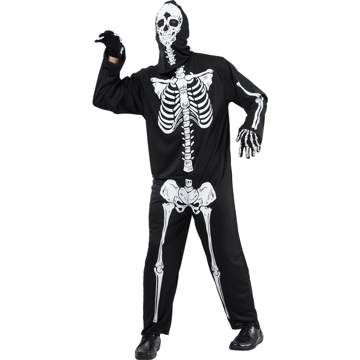 scary skelett halloween kostuem