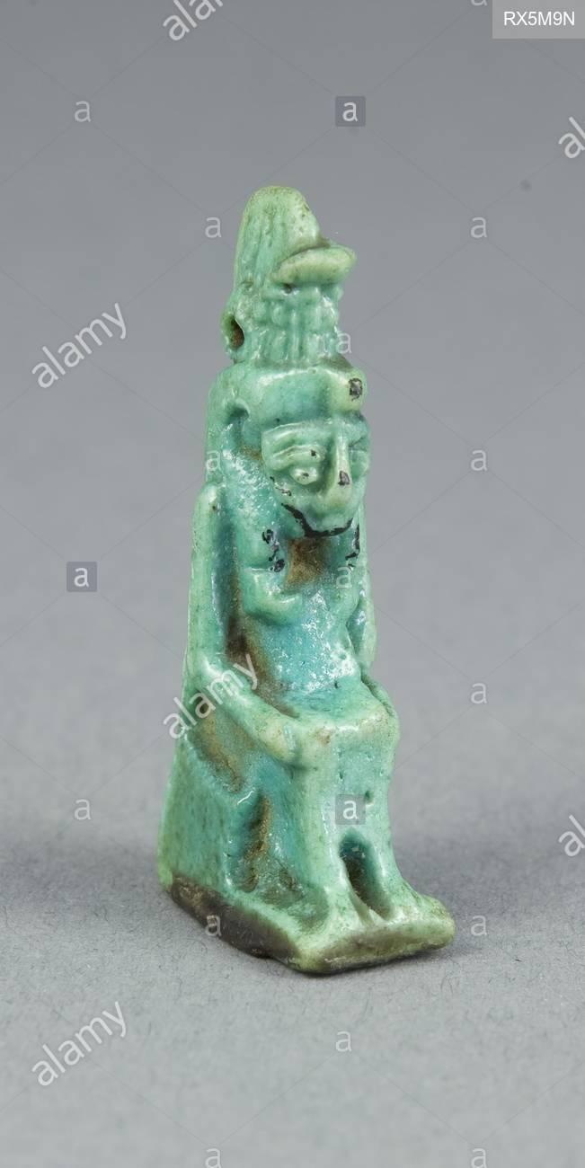 amulett der gottin mut agyptische datum 700 bc 1 bc abmessungen 41 x 21 x 11 cm 1 58 x 1316 x 716 in fayence herkunft agypten museum das chicago art institute thema alte agyptische rx5m9n