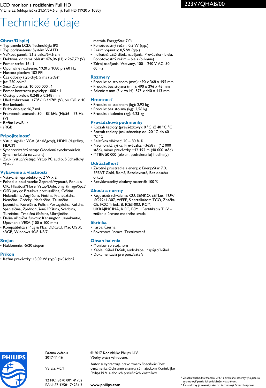 223V7QHAB00 User Guide Page 3