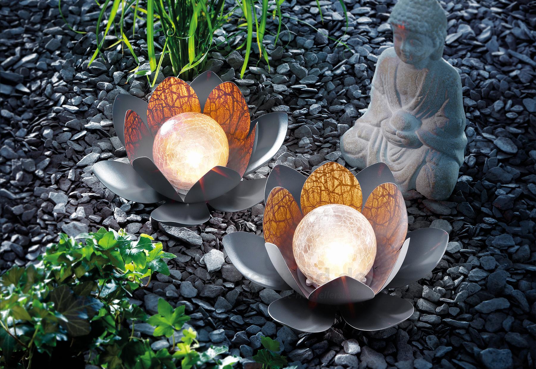 garden life awesome bezauberndes solar lotusbluten duett of garden life