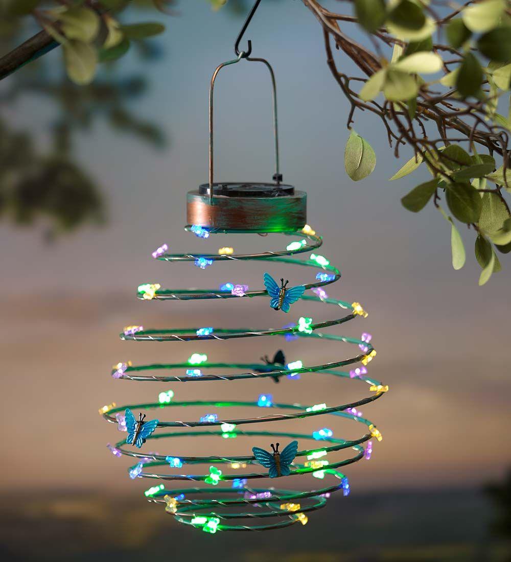 Solar Gartendeko Luxus Hanging solar Lantern Decoration butterfly