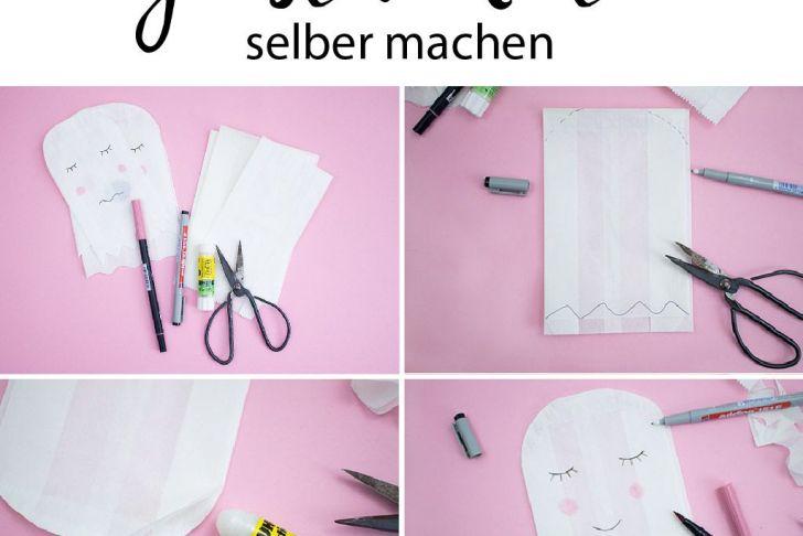 Sommerdeko Selber Machen Luxus Süße Diy Geister Aus Papiertüten Für Halloween Deko