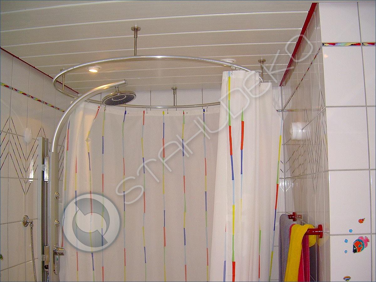 kreis form gebogene duschvorhangstange duschwanne