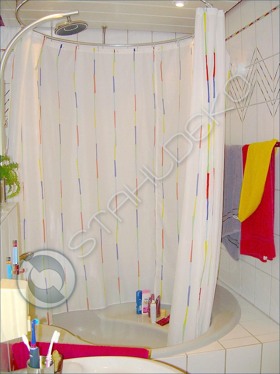 rundum vollkreis form vorhangstange fuer duschwannen