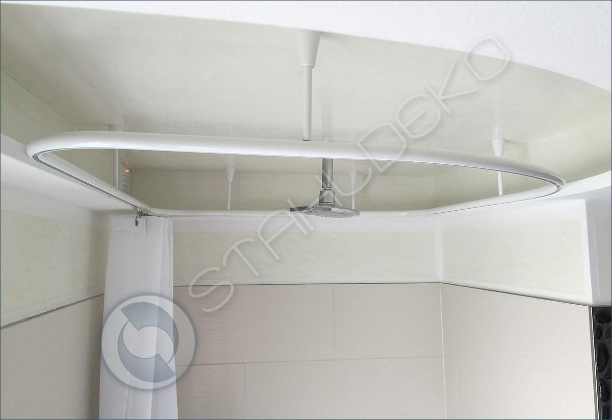 Stahldeko Genial Vollkreis Duschvorhangstange Als Ring Gebogen Für Dusche Und Badewanne Barrierefrei Und Behindertengerecht