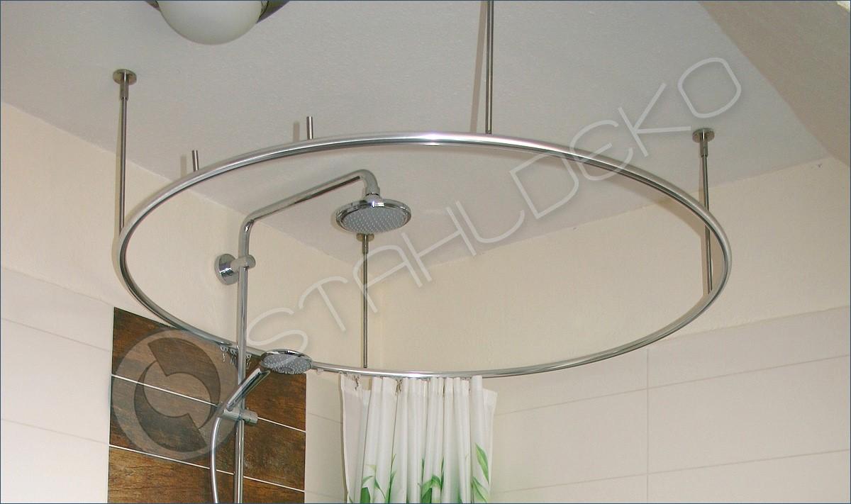 duschvorhangstange ring form bodenebene dusche barrierefrei