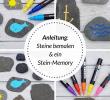 Stein Deko Garten Einzigartig Diy Ein Steinmemory Für Kinder Aus Bemalten Steinen Auf