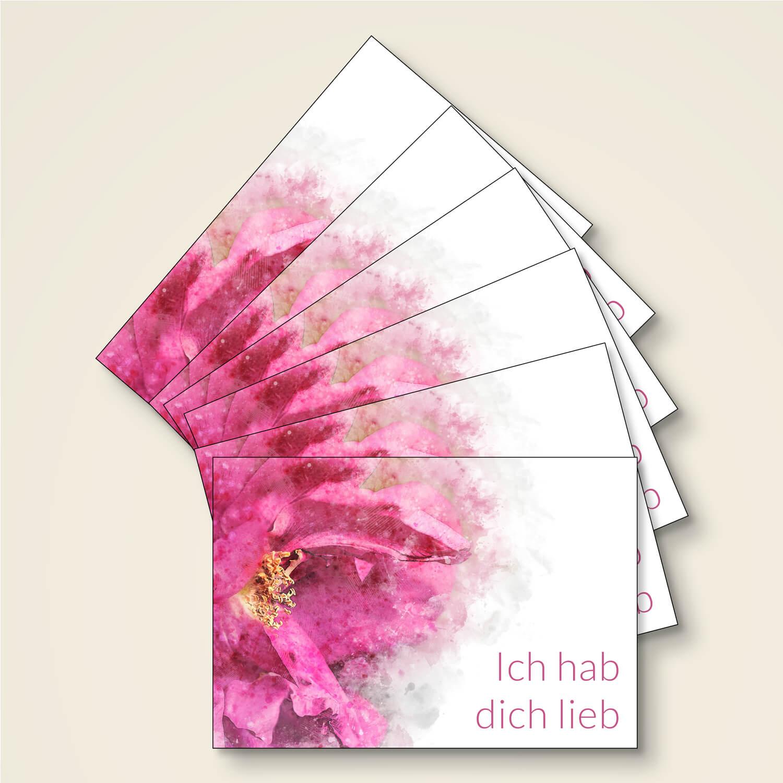 Postkarte Sonderformat 120x175 Floral Blumen sprueche aquarell glueck liebe web 04 008krfkvPz2Hvu7s