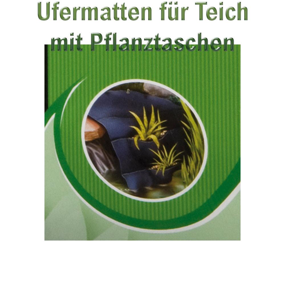 ufermatten teich mit taschen 110 105 cm 17 pflanztaschen gartenteich