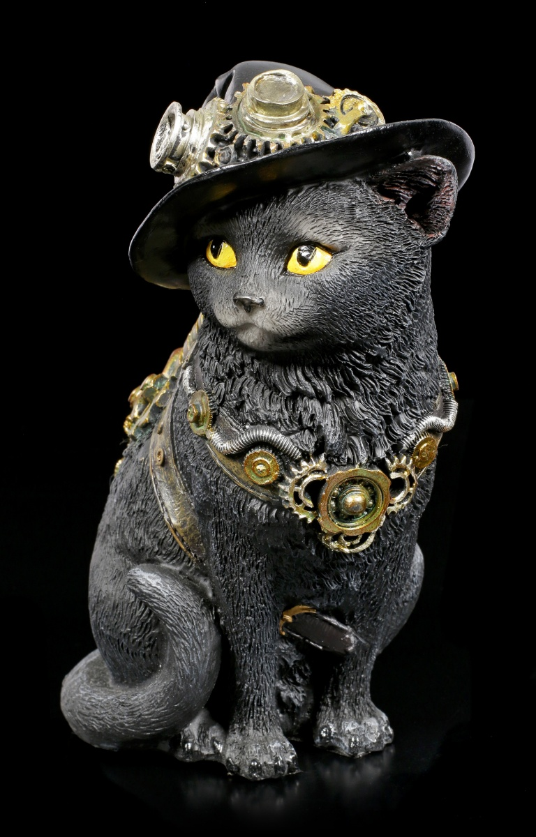 Steampunk Katzen Figur Clockwork Kitty 2