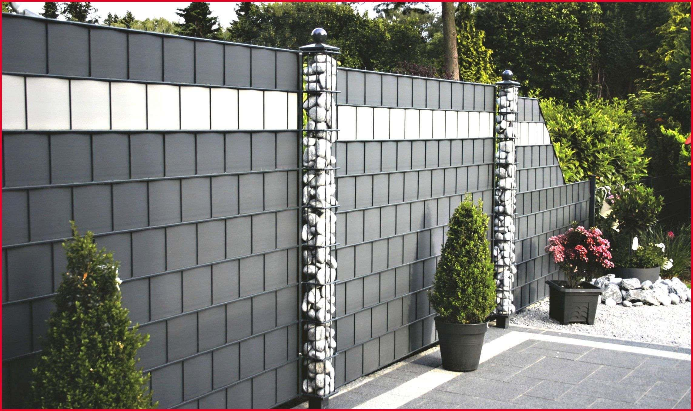 Terrasse Modern Gestalten Luxus Sichtschutz Stein Beste Zaun Mit Steinen Garten Ideas Zaun