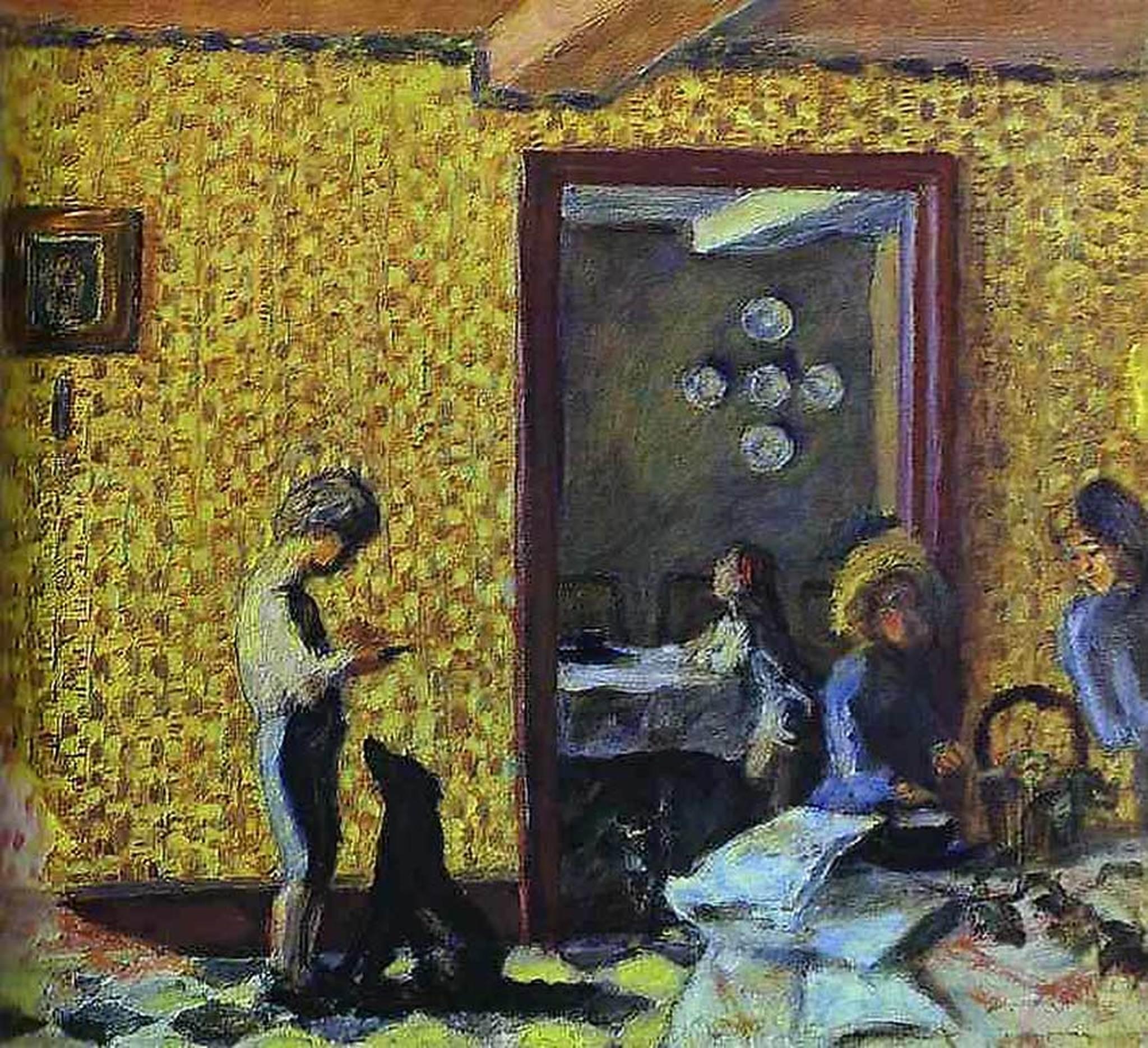 the terrasse children with black dog 1902 painter pierre bonnard
