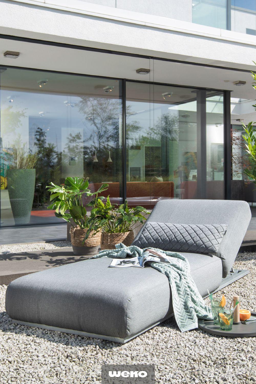 Terrassen Deko Modern Luxus Coole Outdoor Liege In Grau Von Kettler Garten Terrasse