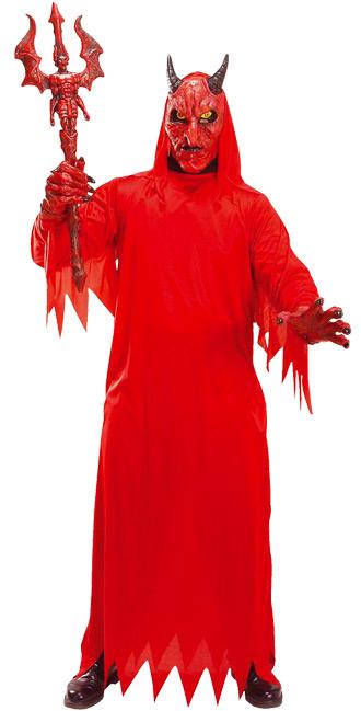 grausamer teufel hoellenherrscher halloween kostuem rot