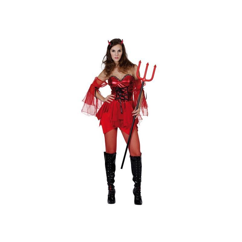 Teufelkostuem Halloween Devil Lady Groesse L Teufel Kostuem
