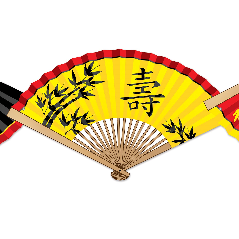 Detailansicht Chinesische Faechergirlande