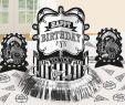 Tischdeko Halloween Inspirierend Black & White Party Table Decoration Happy Birthday 23 Piece