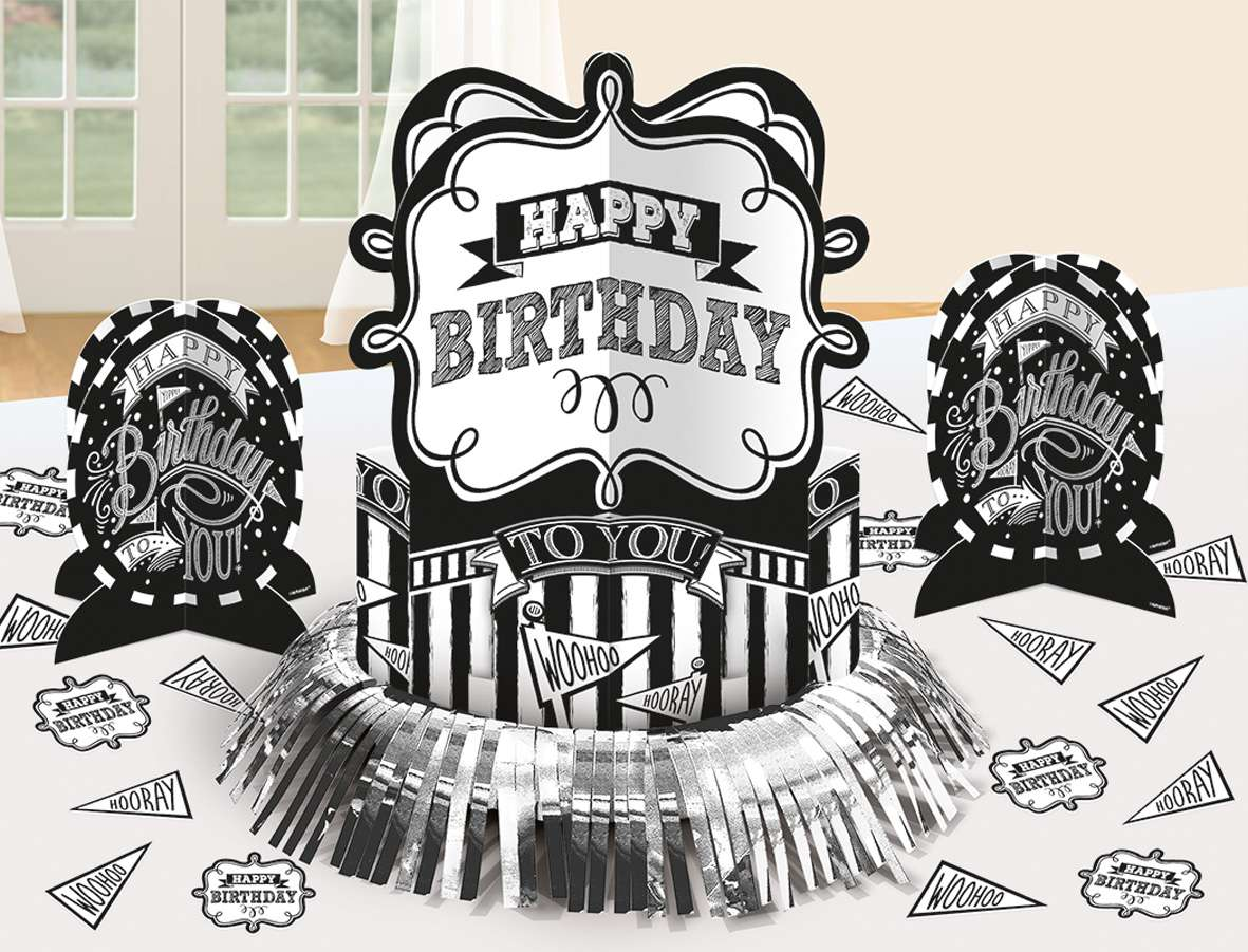 black white party tischdeko set happy birthday 23 teilig 1L3jn9FiTI63fT 600x600 2x