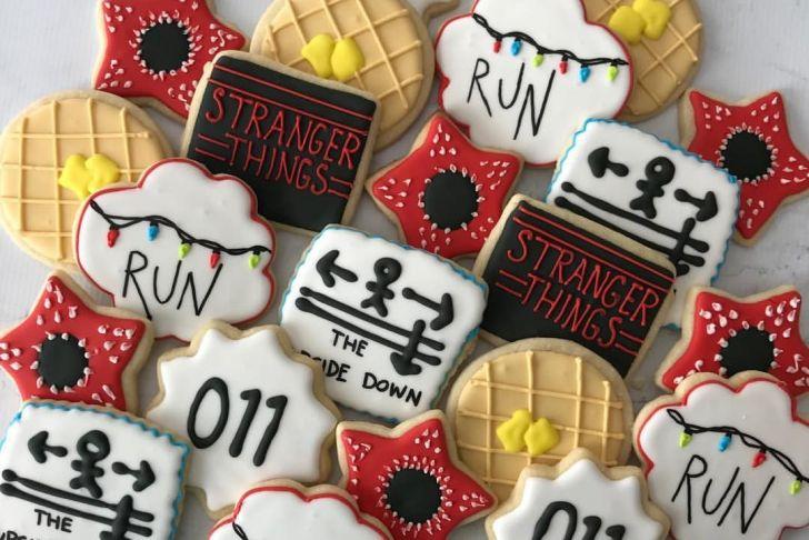 Tischdeko Halloween Schön Stranger Things Cookies Cutesycookie Decoratedcookiesct