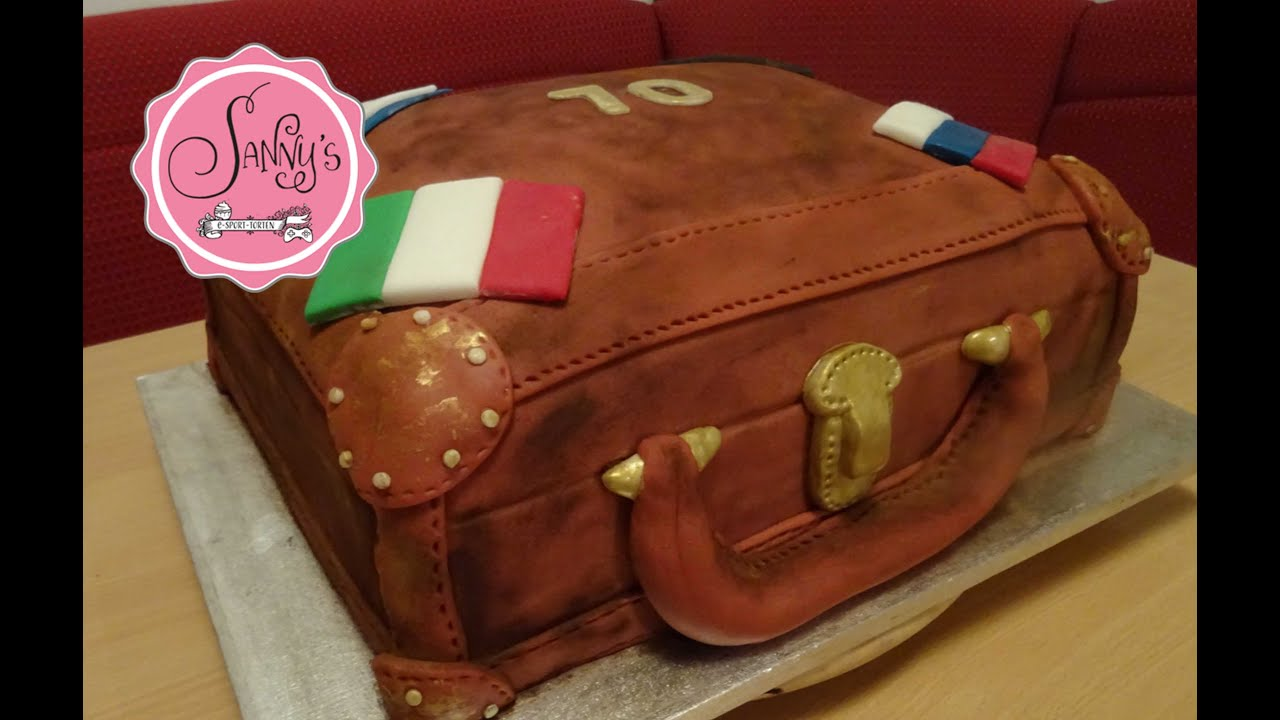 Tortendeko 18 Geburtstag Frisch Koffer torte Suitcase Cake How to Make by Sanny´s Esport torten