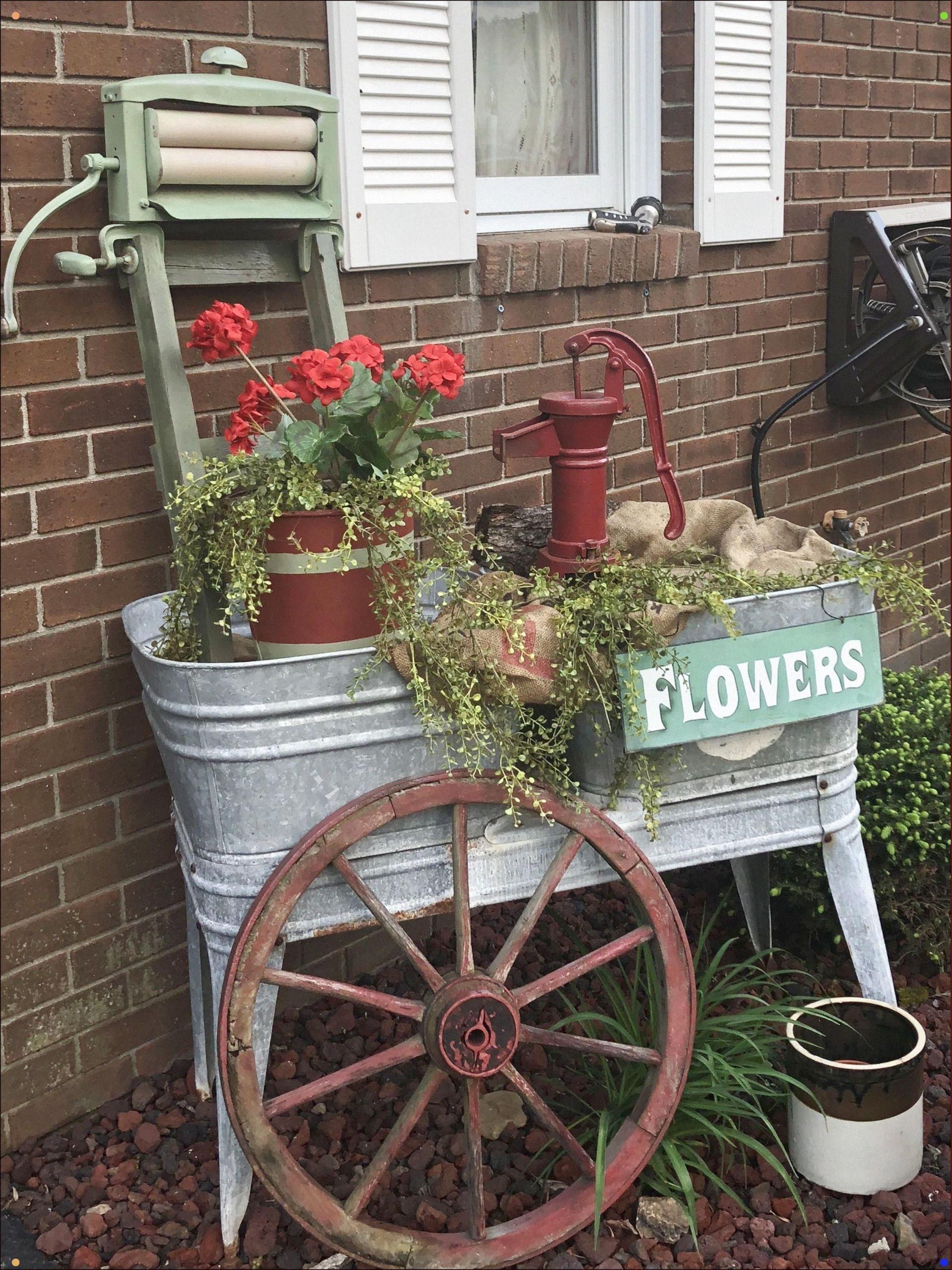 Upcycling Gartendeko Einzigartig Old Wash Tubs