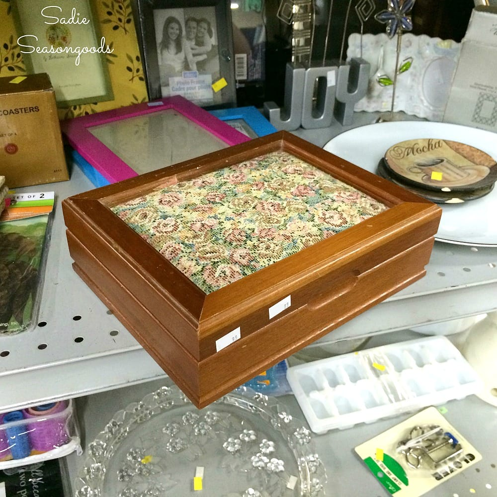 1 mens valet box or mens jewelry box to be upcycled into DIY sewing kit or sewing box by Sa Seasongoods