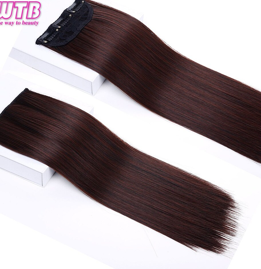 1 pcs Long Straight Synthetic Women Clip In font b Hair b font Extensions Heat Resistant