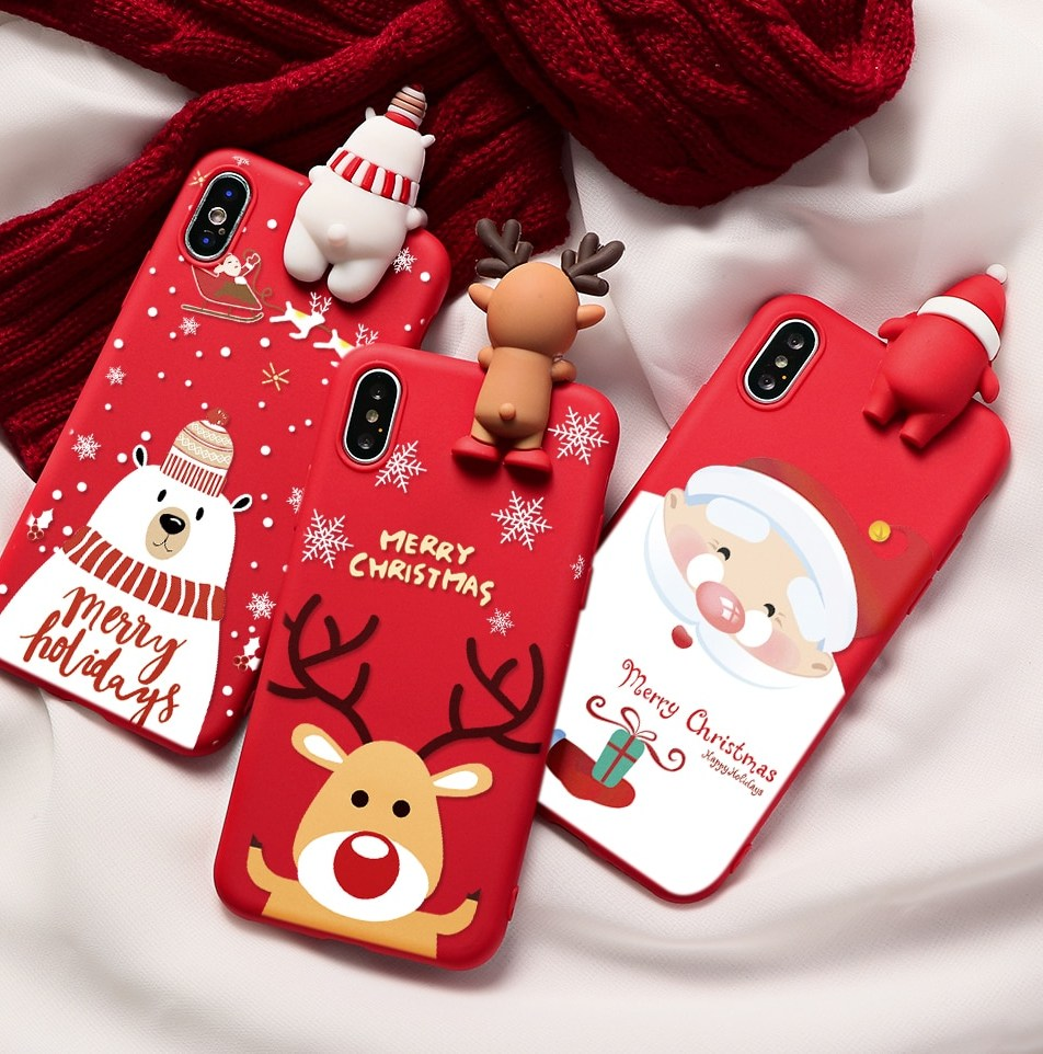 For iPhone 11 Pro XR XS Max 6 6S 7 8 Plus X Snowman Soft IMD