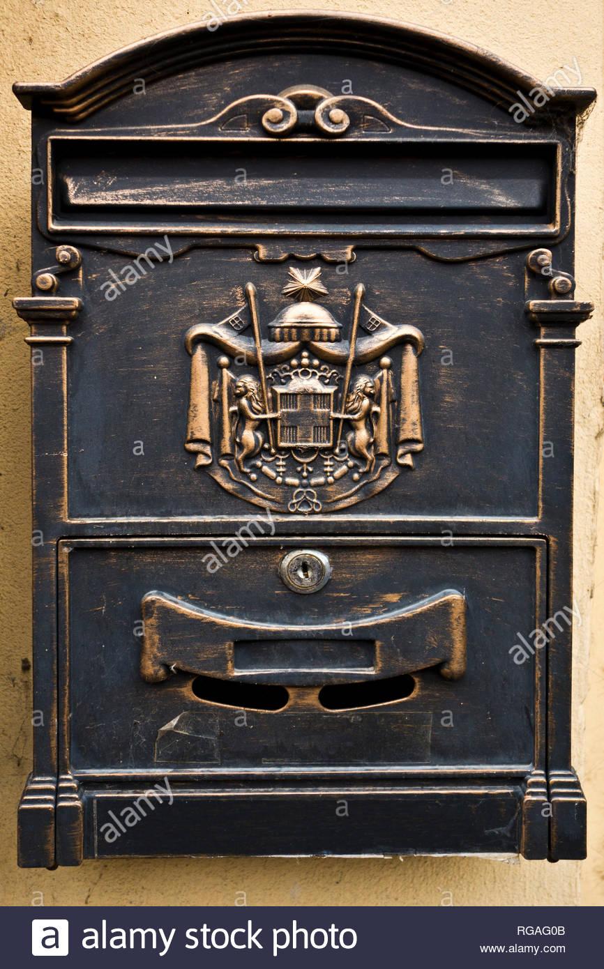 private gusseisen briefkasten letter box mit dekoration rgag0b