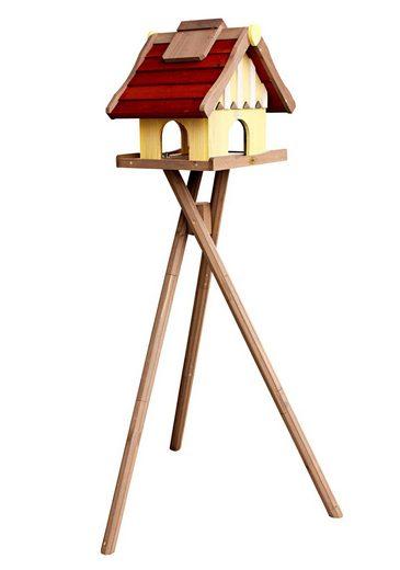habau vogelhaus norwegen mit standbein b t h 35 44 40 cm