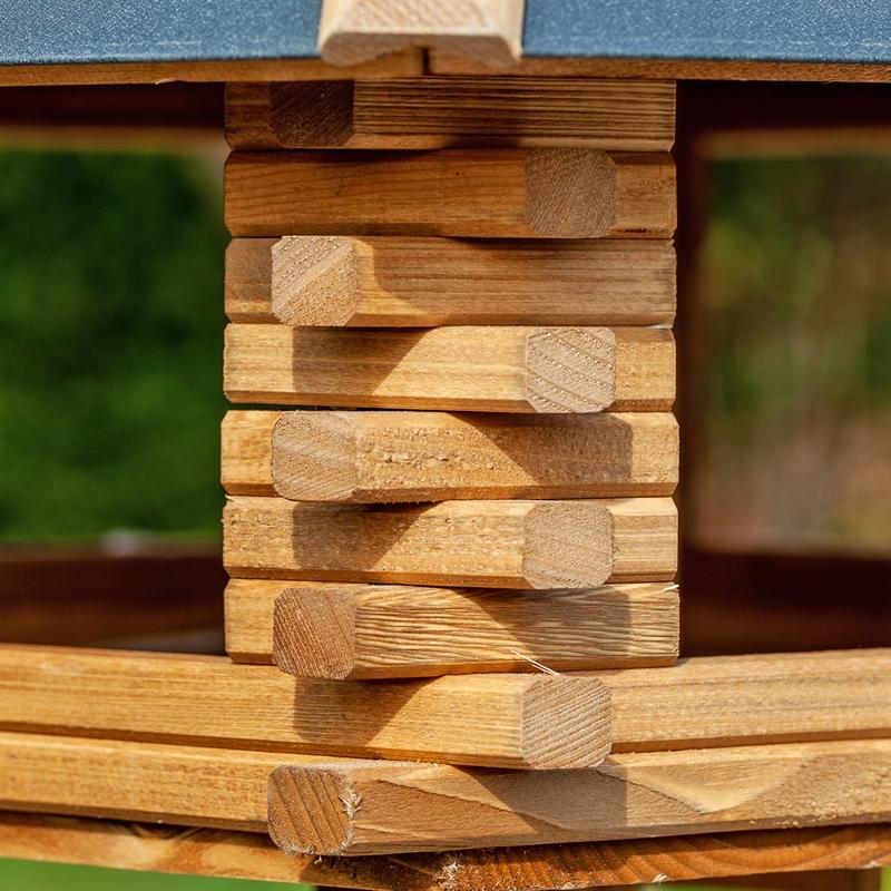 voss garden tofta hochwertiges vogelhaus aus holz mit metalldach