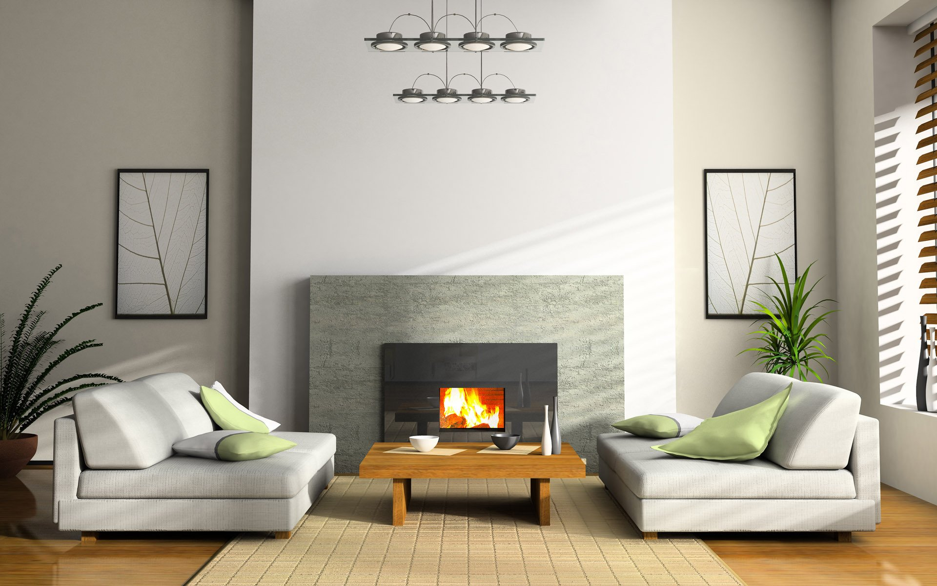 Wanddeko Draußen Neu Interior Room Apartment Design Style sofa Chair Fire Firepla