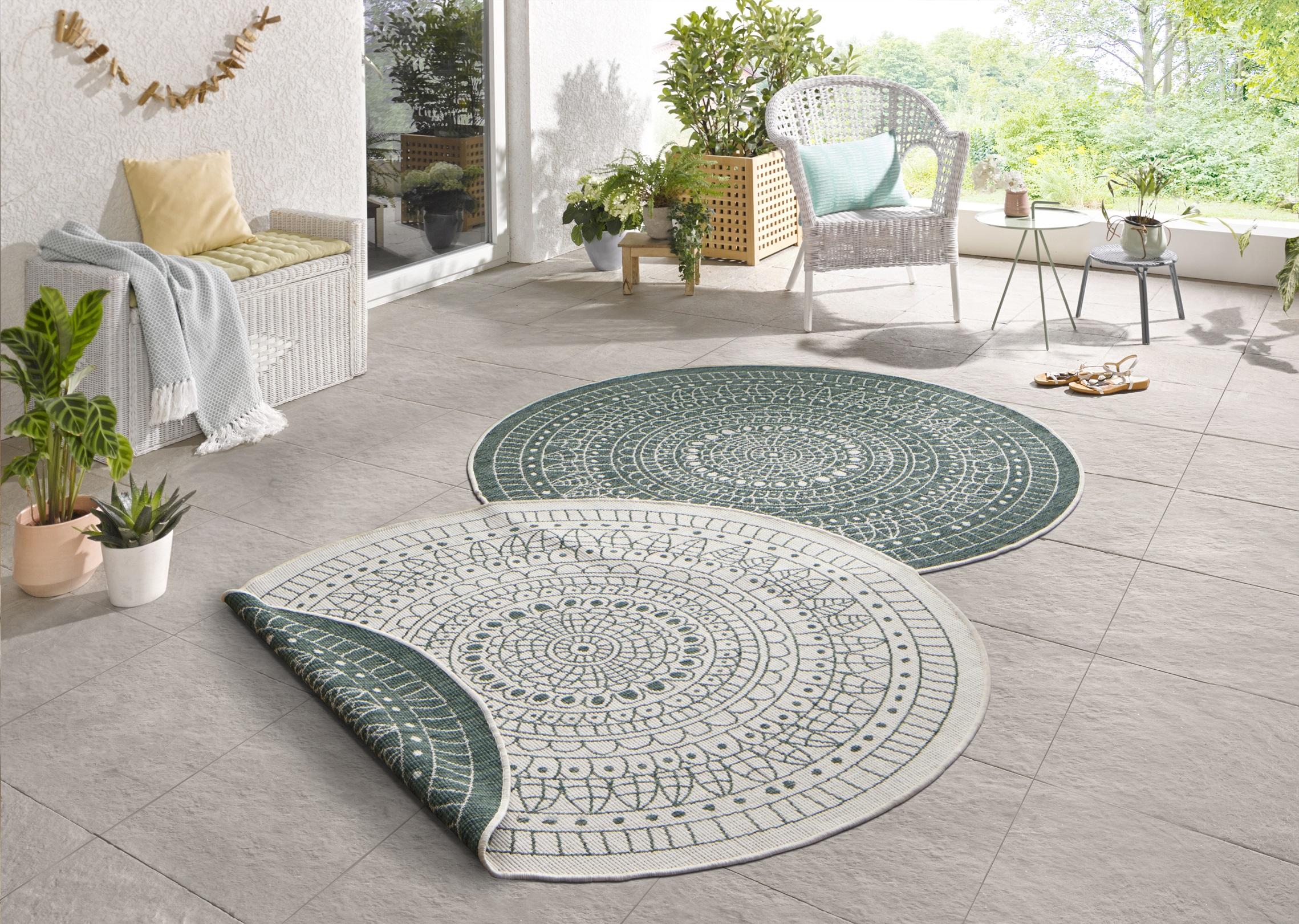 1182 In und Outdoor Design Wendeteppich Teppich W 1