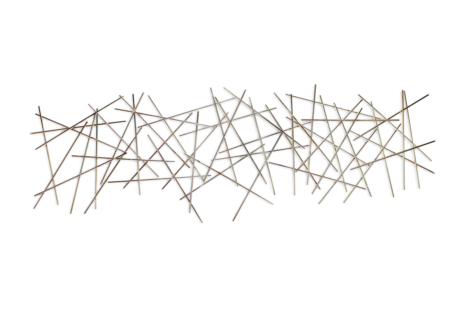 kl abstrakt staebe gold silber wanddeko metall wandskulptur wandbilder aus metall 01