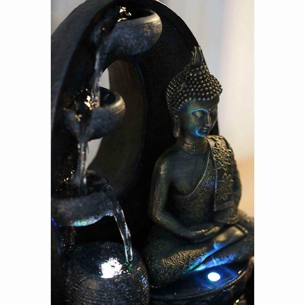 wanddeko metall schwarz elegant zen light harmonie brunnen polyresin schwarz 26 x 16 x 40 40 of wanddeko metall schwarz 1024x1024