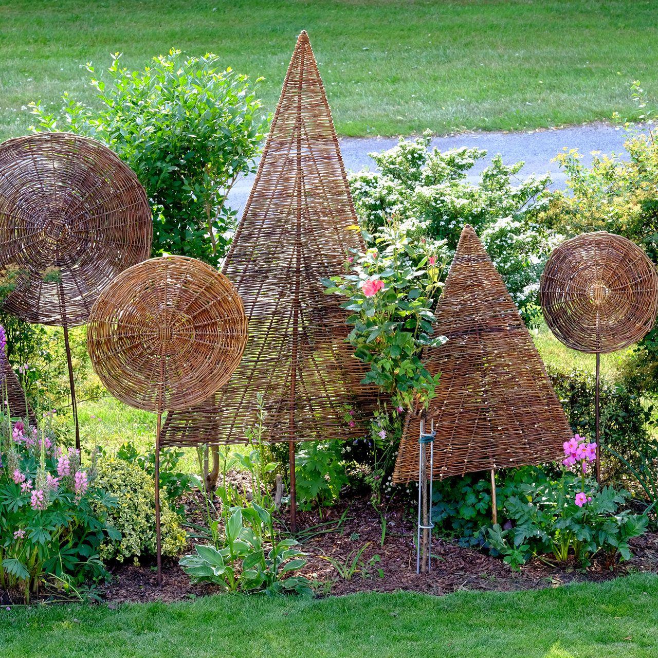 Weiden Deko Garten Luxus Sichtschutz Weidenbaum Tanne Natur