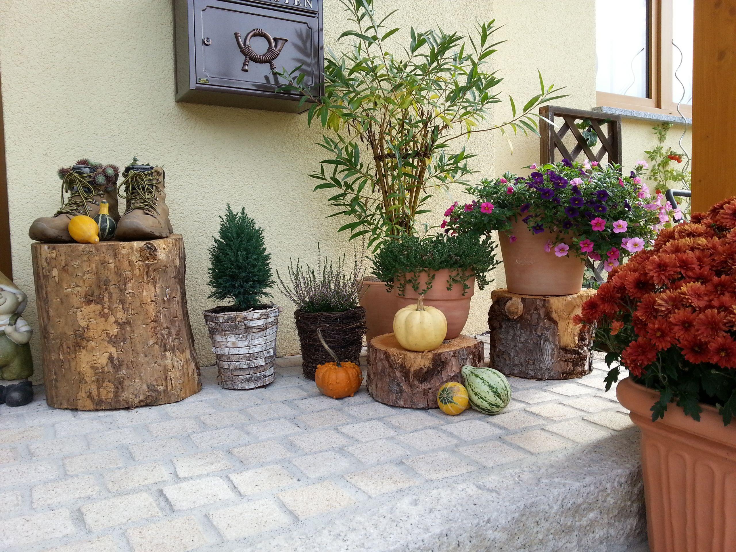 Gartendeko Haustür Herbst 2014 2