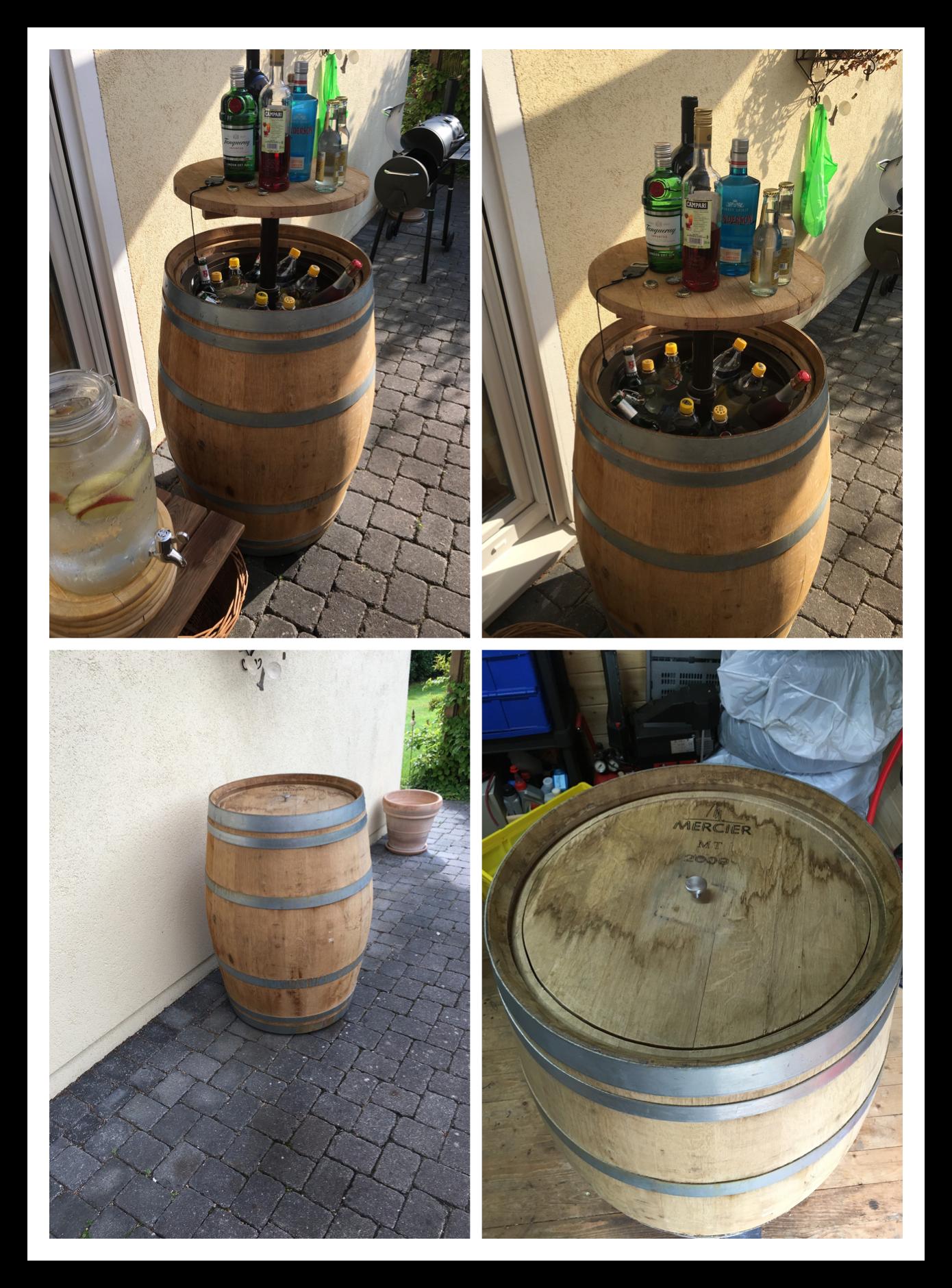 Weinfass Deko Garten Schön Partyfass Mit Kühlbox Aus Meinem Weinfass Ein Mobiles
