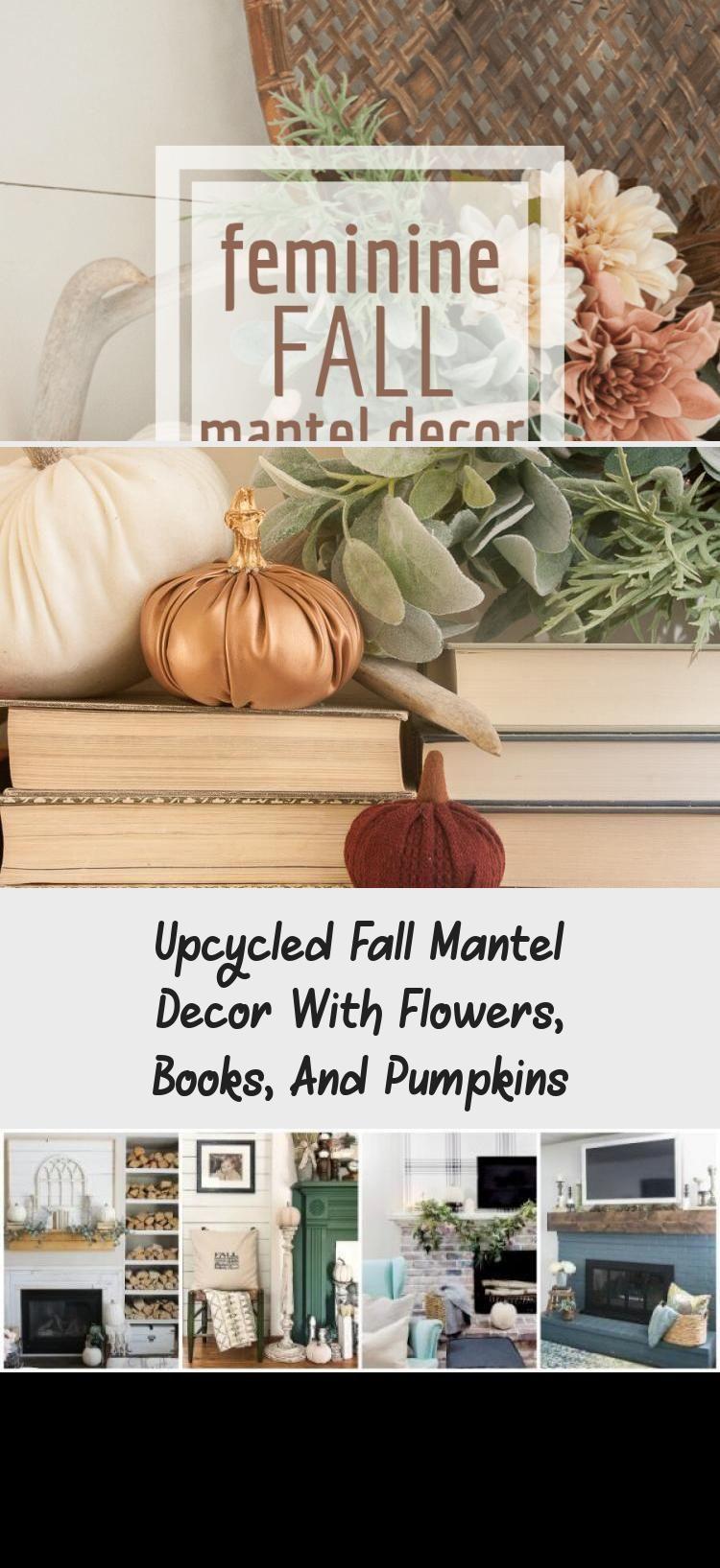 Winter Gartendeko Neu Fall Mantel Decor with Flowers Pumpkins and Books