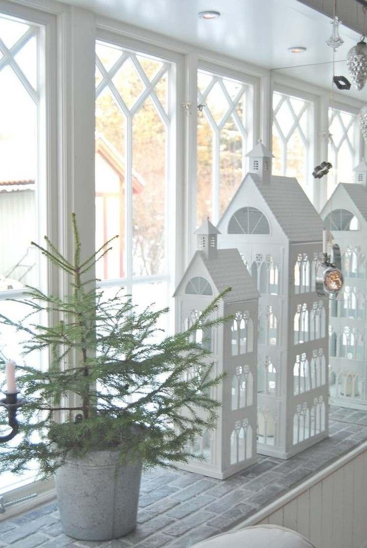 weihnachtsdeko fenster laternen hauser weiss lackiert gross