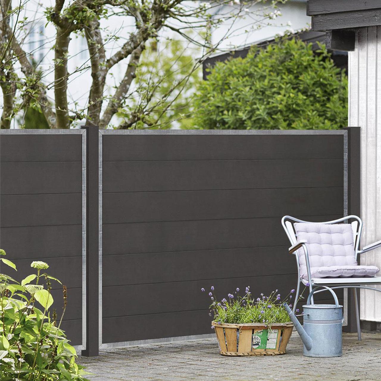 A6727 WPC Sichtschutz Zaun Futur anthrazit