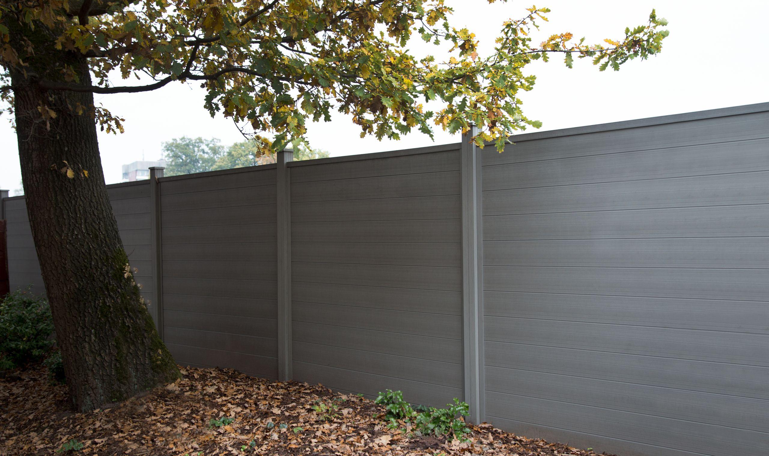 GUJ M WPC Zaun Sombra 180 x 180 x 27 cm Stecksystem Standard Farbe wahlweise 3