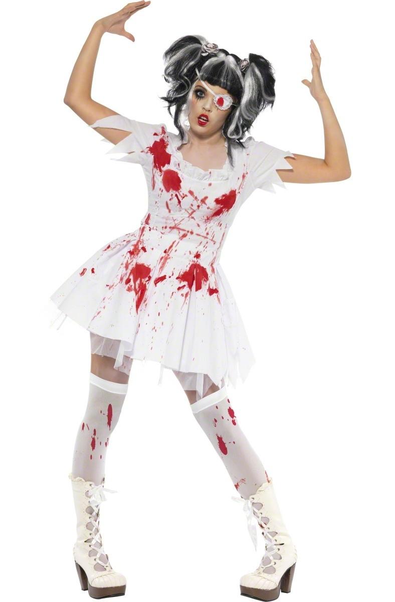 p horrorpuppe zombie halloween kostum fur damen