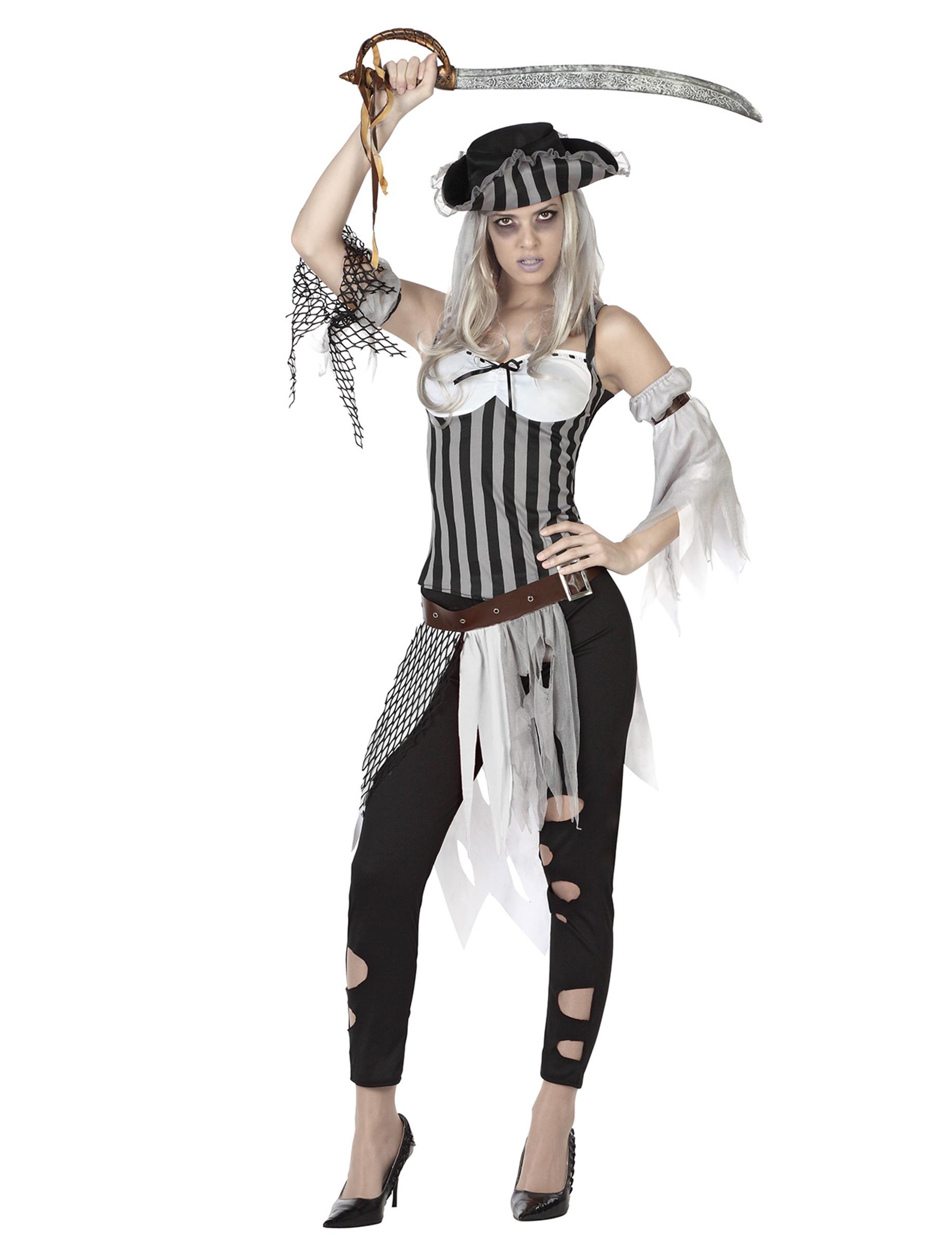p zombie piratenkostuem fuer damen