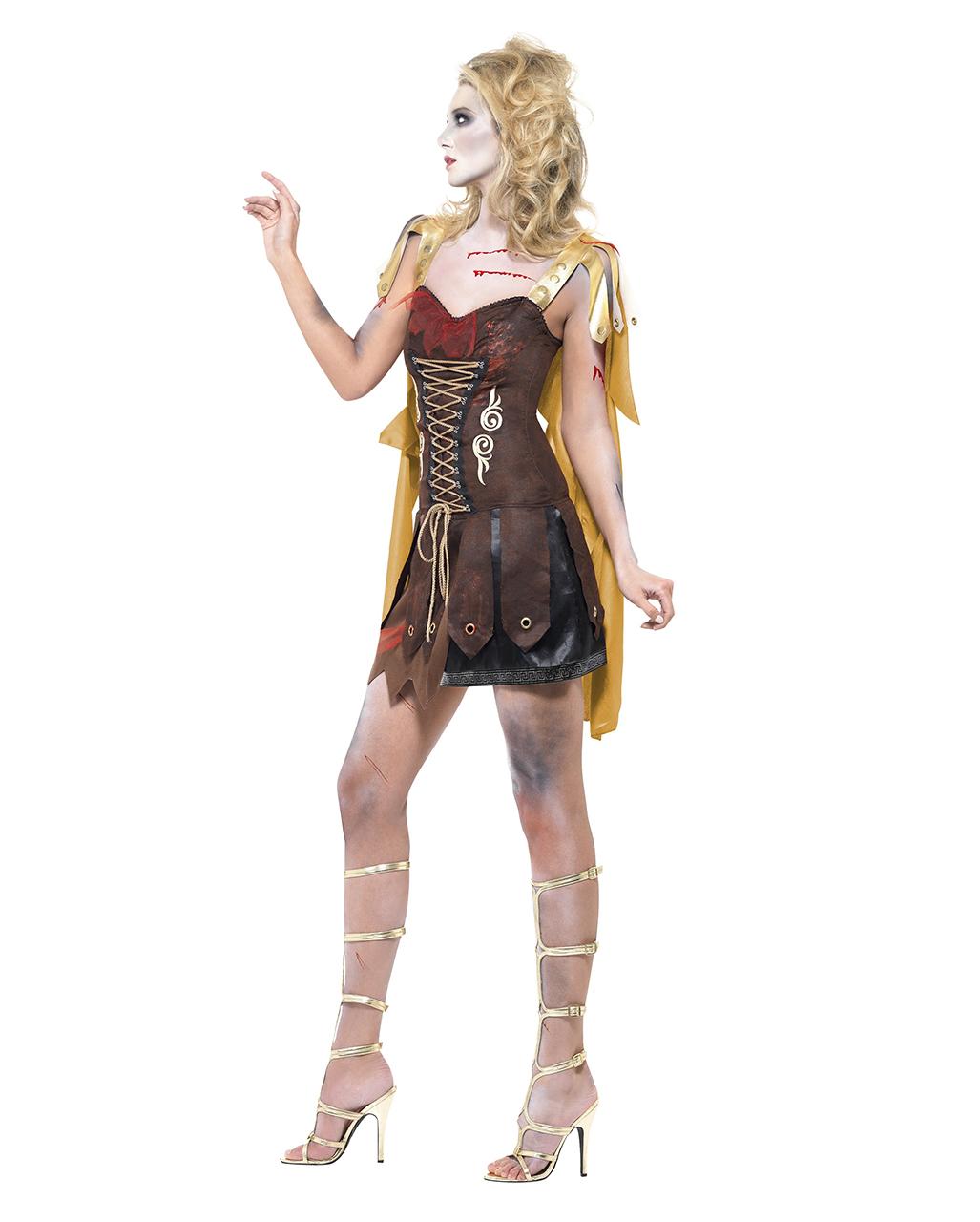 Zombie Kostüme Damen Elegant Zombie Gladiator Damen Kostüm