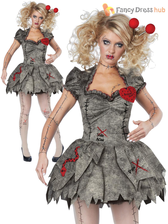 Zombie Kostüme Damen Genial Damen Twisted Defekt Voodoo Puppe Kostüm Damen Zombie