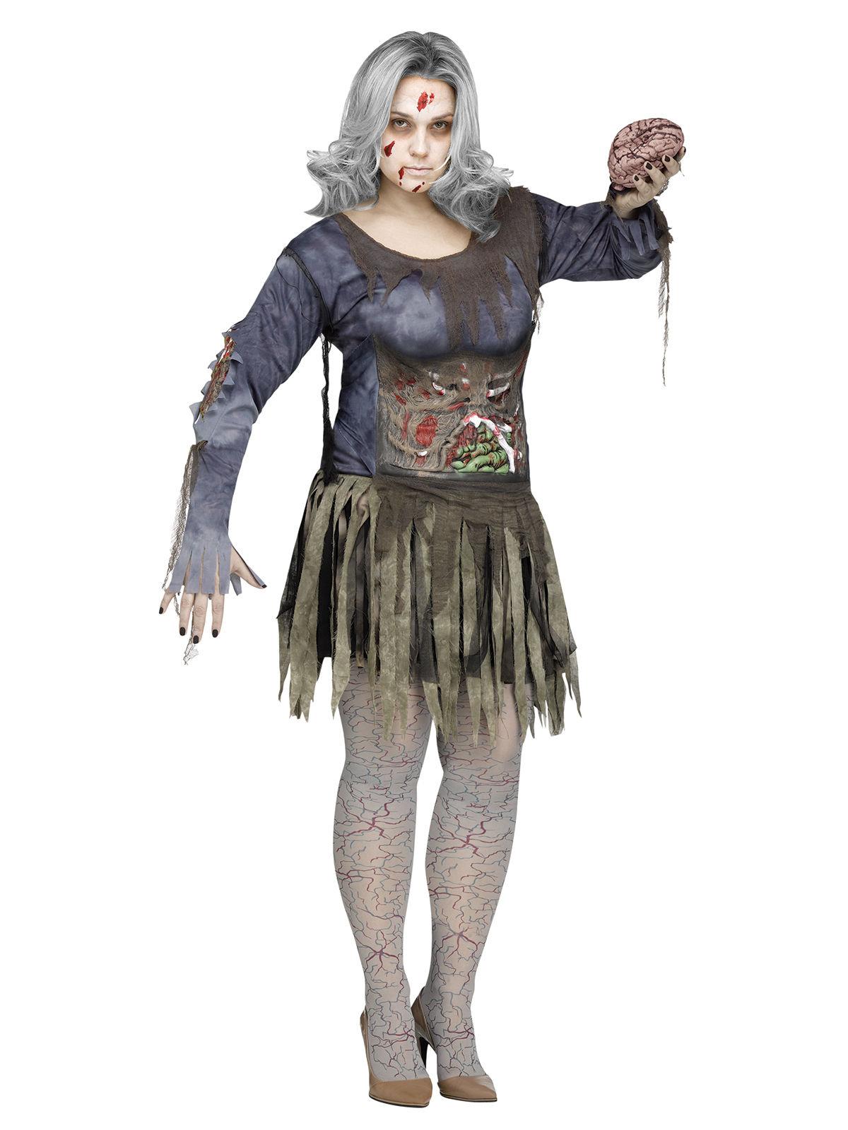 p zombie halloweenkostuem fuer damen plus size