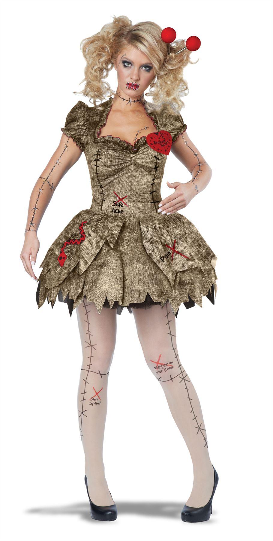 Zombie Kostüme Damen Schön Voodoo Puppe Halloween KostÜm Zombie Costume Erwachsene