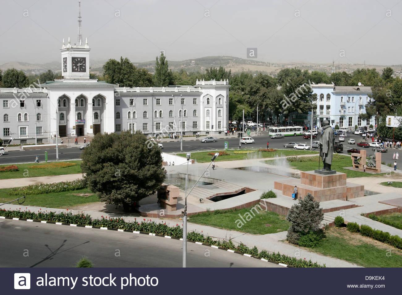 bekhzod national museum and maydani ayni ayni square dushanbe tajikistan D9KEK4