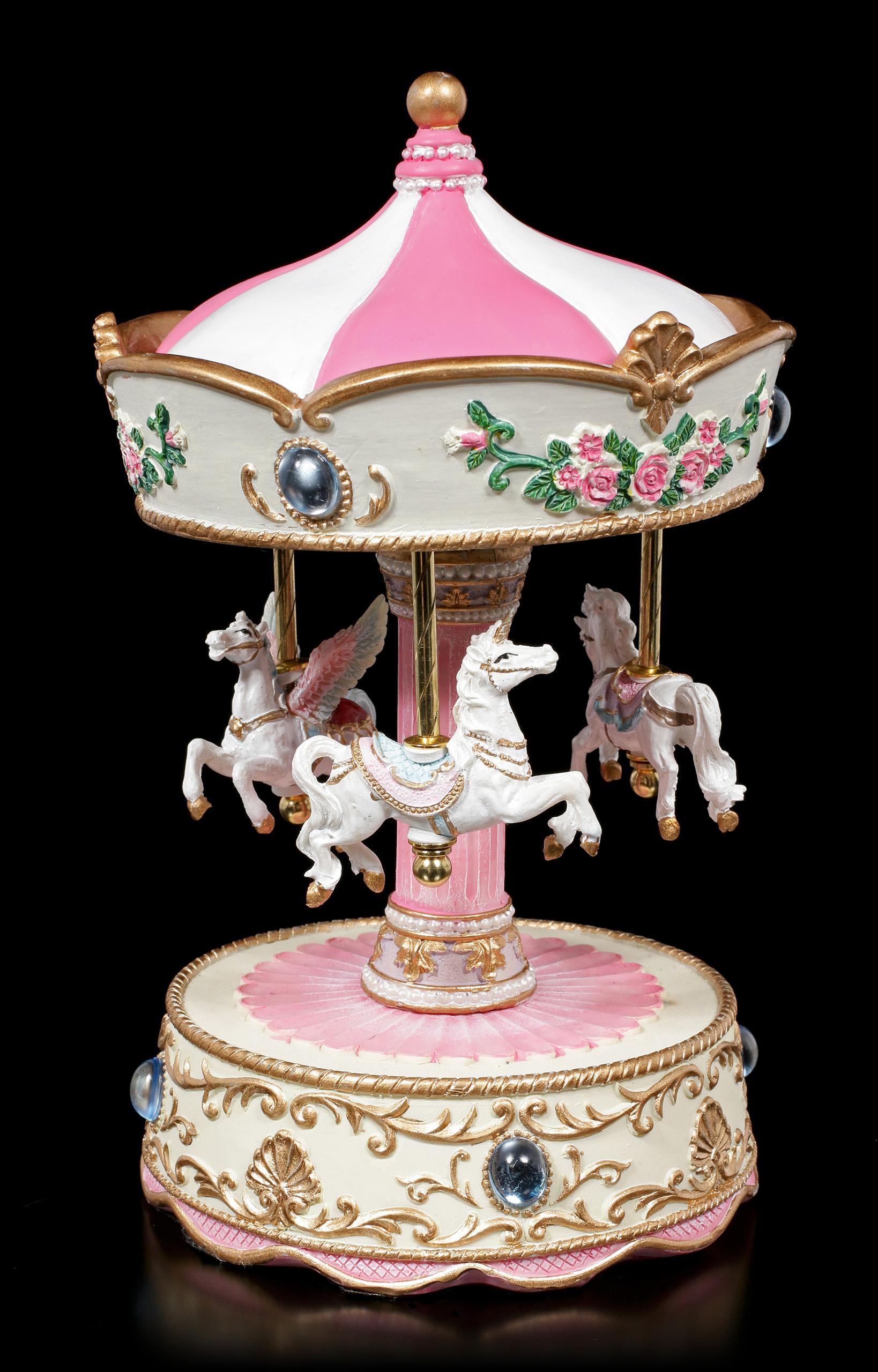 Spieluhr Einhorn Pegasus Karussell 1